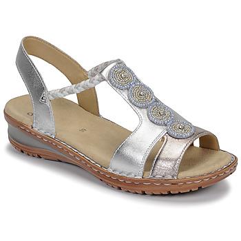 Cipők Női Szandálok / Saruk Ara HAWAII Fehér / Ezüst
