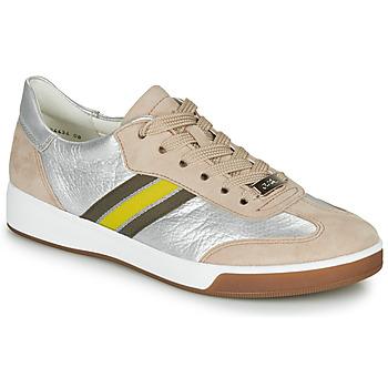 Cipők Női Rövid szárú edzőcipők Ara ROM-HIGHSOFT Ezüst / Bézs / Citromsárga