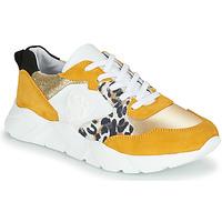 Cipők Női Rövid szárú edzőcipők Philippe Morvan VIRGIL Citromsárga / Fehér