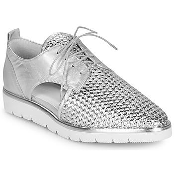 Cipők Női Oxford cipők Regard LUCEY V2 TRESSE SILVER Ezüst