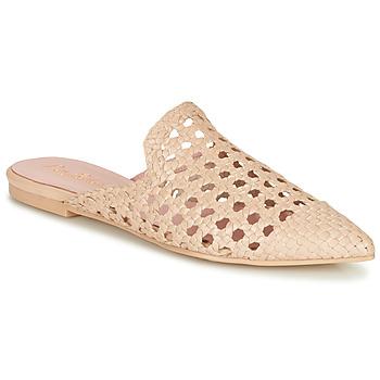 Cipők Női Papucsok Pretty Ballerinas COTON ROSATO Bézs