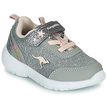 Cipők Lány Rövid szárú edzőcipők Kangaroos KY-Citylite EV Szürke / Rózsaszín