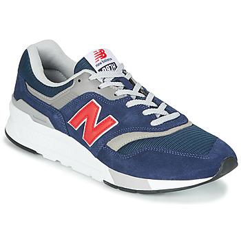 Cipők Rövid szárú edzőcipők New Balance 997 Kék / Piros