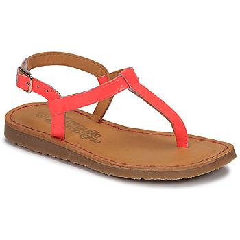 Cipők Lány Lábujjközös papucsok Citrouille et Compagnie MIZZA Rózsaszín / Fluoreszkáló