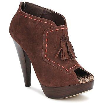 Cipők Női Bokacsizmák Via Uno KAMILA Barna