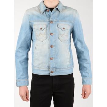 Ruhák Férfi Farmerkabátok Wrangler Kurtka jeansowa  Denim Jacket W458QE20T niebieski