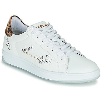 Cipők Női Rövid szárú edzőcipők Replay MELANIA Fehér