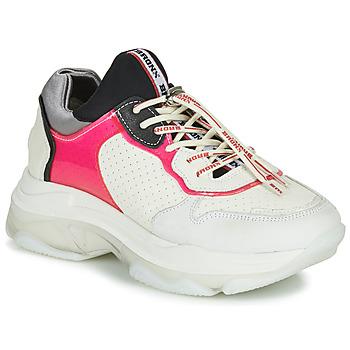 Cipők Női Rövid szárú edzőcipők Bronx BAISLEY Fehér / Rózsaszín