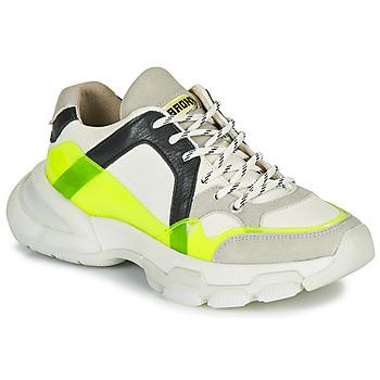 Cipők Női Rövid szárú edzőcipők Bronx SEVENTY STREET Fehér / Citromsárga