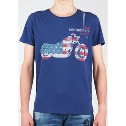 Ruhák Férfi Rövid ujjú pólók Wrangler T-shirt  S/S Biker Flag Tee W7A53FK 1F granatowy