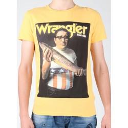 Ruhák Férfi Rövid ujjú pólók Wrangler T-shirt  S/S Graphic T W7931EFNG żółty