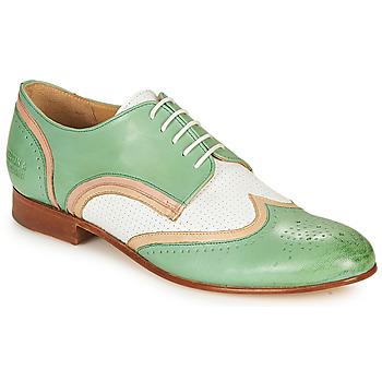 Cipők Női Oxford cipők Melvin & Hamilton SALLY 15 Zöld / Fehér / Bézs