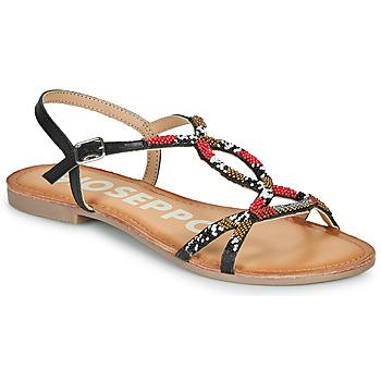 Cipők Női Szandálok / Saruk Gioseppo PARISH Fekete  / Piros