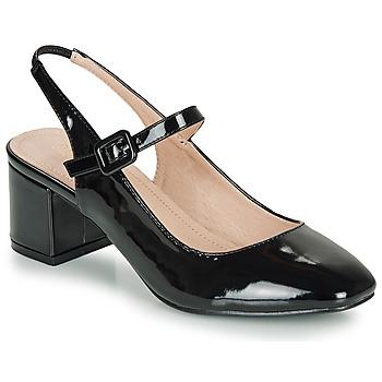 Cipők Női Balerina cipők  André JONNA Fekete  / Fényes
