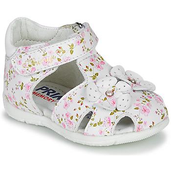 Cipők Lány Szandálok / Saruk Primigi  Fehér / Rózsaszín