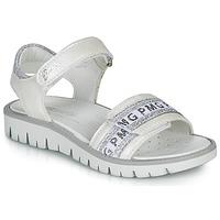 Cipők Lány Szandálok / Saruk Primigi 5386700 Fehér / Ezüst