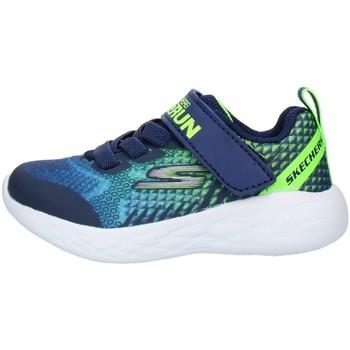 Cipők Gyerek Rövid szárú edzőcipők Skechers 97858N Blue Lime
