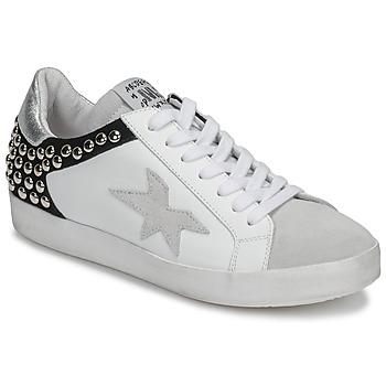 Cipők Női Rövid szárú edzőcipők Meline GELLABELLE Fehér / Fekete