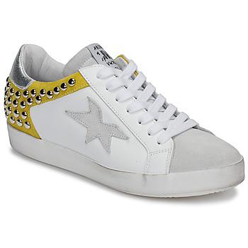 Cipők Női Rövid szárú edzőcipők Meline GELLABELLE Fehér / Mustár sárga