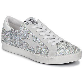 Cipők Női Rövid szárú edzőcipők Meline GARAMINE Fehér / Ezüst