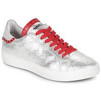 Cipők Női Rövid szárú edzőcipők Meline GARILOU Ezüst / Piros