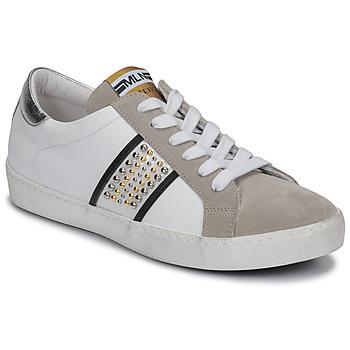 Cipők Női Rövid szárú edzőcipők Meline GARILOU Fehér / Bézs