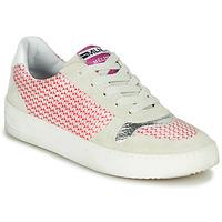Cipők Női Rövid szárú edzőcipők Meline GUILI Bézs / Piros