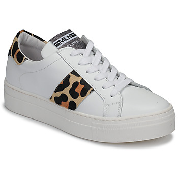 Cipők Női Rövid szárú edzőcipők Meline GETSET Fehér / Leopárd