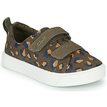 Cipők Lány Rövid szárú edzőcipők Clarks CITY BRIGHT T Keki