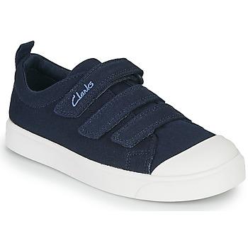 Cipők Gyerek Rövid szárú edzőcipők Clarks CITY VIBE K Tengerész