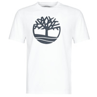 Ruhák Férfi Rövid ujjú pólók Timberland SS KENNEBEC RIVER BRAND TREE TEE Fehér