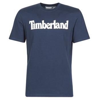 Ruhák Férfi Rövid ujjú pólók Timberland SS KENNEBEC RIVER BRAND LINEAR TEE Tengerész