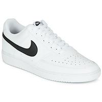 Cipők Férfi Rövid szárú edzőcipők Nike COURT VISION LOW Fehér / Fekete