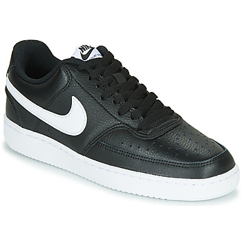 Cipők Női Rövid szárú edzőcipők Nike COURT VISION LOW Fekete  / Fehér