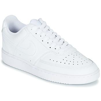 Cipők Női Rövid szárú edzőcipők Nike COURT VISION LOW Fehér