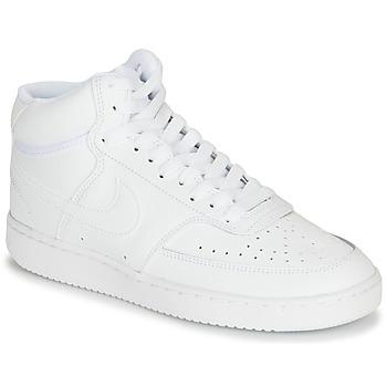 Cipők Női Rövid szárú edzőcipők Nike COURT VISION MID Fehér