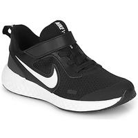 Cipők Gyerek Rövid szárú edzőcipők Nike REVOLUTION 5 PS Fekete  / Fehér