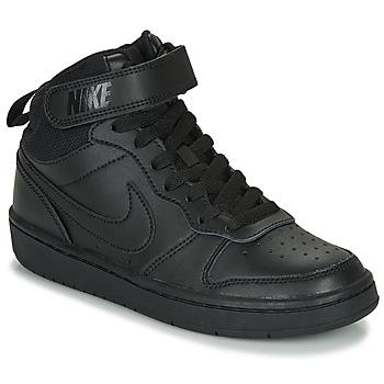 Cipők Gyerek Magas szárú edzőcipők Nike COURT BOROUGH MID 2 GS Fekete