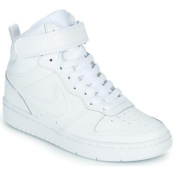 Cipők Gyerek Magas szárú edzőcipők Nike COURT BOROUGH MID 2 GS Fehér