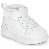 Cipők Gyerek Magas szárú edzőcipők Nike COURT BOROUGH MID 2 TD Fehér