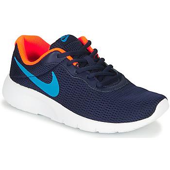 Cipők Fiú Rövid szárú edzőcipők Nike TANJUN GS Kék