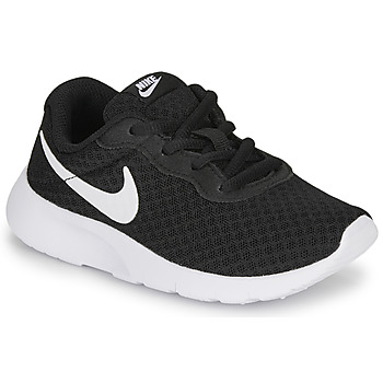 Cipők Gyerek Rövid szárú edzőcipők Nike TANJUN PS Fekete  / Fehér