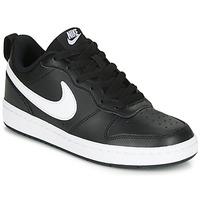 Cipők Gyerek Rövid szárú edzőcipők Nike COURT BOROUGH LOW 2 GS Fekete  / Fehér