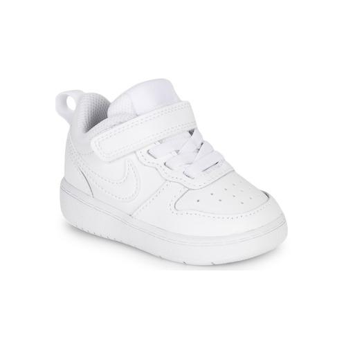 Cipők Gyerek Rövid szárú edzőcipők Nike COURT BOROUGH LOW 2 TD Fehér