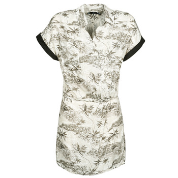 Ruhák Női Rövid ruhák Volcom VACAY ME SS DRESS Fehér