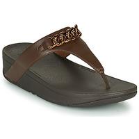 Cipők Női Lábujjközös papucsok FitFlop LOTTIE CHAIN TOE-THONGS Barna
