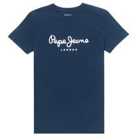 Ruhák Fiú Rövid ujjú pólók Pepe jeans ART Tengerész