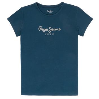 Ruhák Lány Rövid ujjú pólók Pepe jeans HANA GLITTER Tengerész
