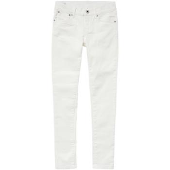Ruhák Lány Skinny farmerek Pepe jeans PIXLETTE Fehér