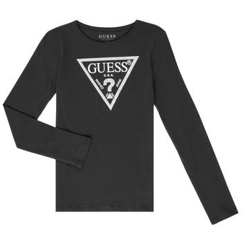 Ruhák Lány Hosszú ujjú pólók Guess GARICE Fekete